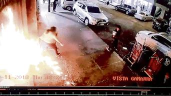 María Salvio se salvó de morir quemada al extenderse el fuego muy cerca de ella.