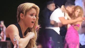 Shakira asustada por fan que la tocó de más tras burlar seguridad por un selfie en medio del concierto