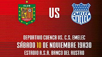 Emelec vs Deportivo Cuenca HOY por la Serie A de Ecuador