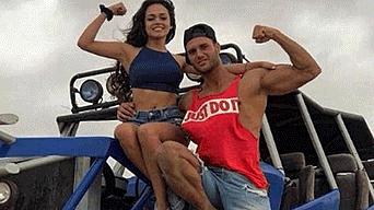 Mayra Goñi y Fabio Agostini