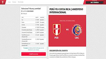 Perú vs Costa Rica