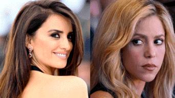 Shakira y Penélope Cruz