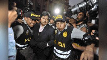 Edwin Oviedo llega a edificio Zavala para proceso oral. Foto: Javier Quispe.