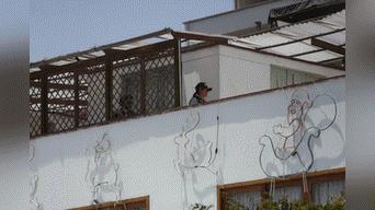 Proceso de diligencia en su vivienda ubicada en San Borja. Foto: Mauricio Malca.