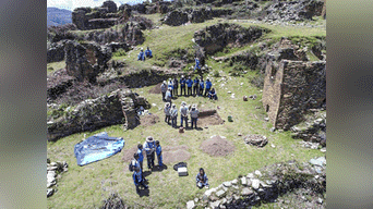 Foto panorámica de las Ruinas de Nunash, ubicado en el distrito de Pachas, provincia de Dos de Mayo, departamento de Huánuco. Foto: Arkeodron de las aéreas