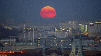 Superluna de sangre lobo 2019