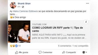 Murió Manu Carreras, cantante de La Voz Perú.