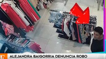 Alejandra Baigorria, Tienda de ropa Gamarra, robo