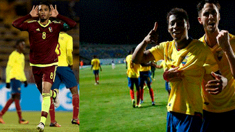 Venezuela vs Ecuador por Sudamericano sub 20