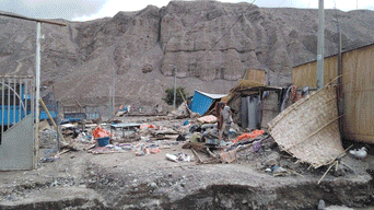Centro poblado quedó enterrado bajo el lodo