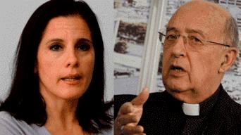 Claudia Cisneros y cardenal Pedro Barreto
