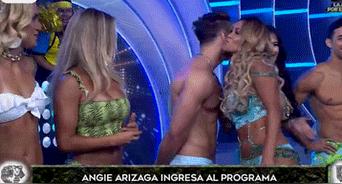 Angie Arizaga y Nicola Porcella
