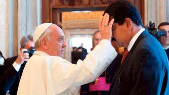 Papa Francisco y Nicolás Maduro