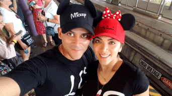 Christian Domínguez e Isabel Acevedo