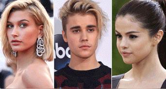 Hailey Baldwin, Selena Gomez y Justin Bieber