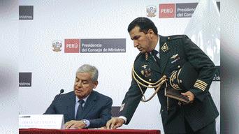 Villanueva sostuvo que junto con el presidente Martín Vizcarra aplicaron lineamientos políticos, como el de la lucha contra la corrupción. Foto: Michael Ramón