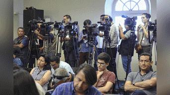 Prensa nacional e internacional cubrieron la conferencia de prensa del saliente Premier Foto: Michael Ramón