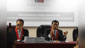 Los jueces Guillermo Piscoya, Marco Angulo Morales y Víctor Enríquez Sumerinde son los encargados de ver el caso del ex presidente. Foto: Melissa Merino