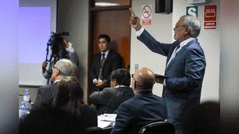 Jose Ugaz, abogado de la secretaria Gloria Jesús Kisic, estuvo presente en la audiencia. Foto: Melissa Merino