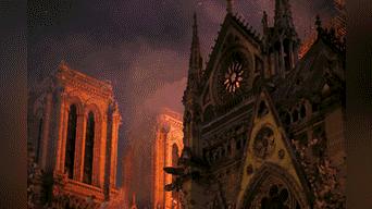 Incendio devoró el interior de la emblemática catedral de Notre Dame. Foto: AFP