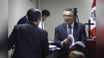Encuentro del fiscal Domingo Perez y el abogado Cesar Nakazaki Foto: Michael Ramón