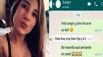 WhatsApp: chica le revela su más grande secreto a su suegro y este reacciona así
