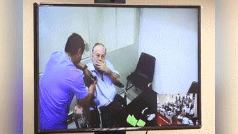 Audiencia de apelación para revocar la prisión preventiva de Luis Nava, su estado es delicado. Fotos: Michael Ramón