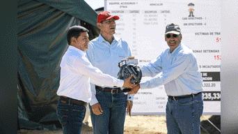 Presidente de la República, Martín Vizcarra anuncia el inicio de los trabajos de refosteración en la zona de La Pampa Foto: Aldair Mejia