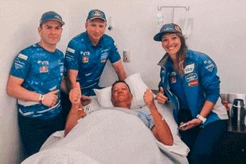 Dakar 2019: piloto que atropelló a aficionado fue a visitarlo en hospital de Arequipa