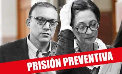 PJ ordena prisión preventiva de 36 meses contra Pier Figari y Ana Herz