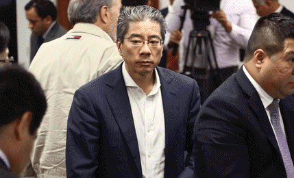 Dictan impedimento de salida del país contra Yoshiyama Sasaki