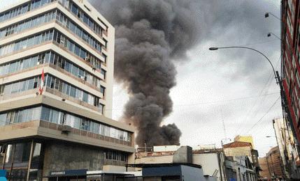 Reportan incendio en un depósito de Mesa Redonda