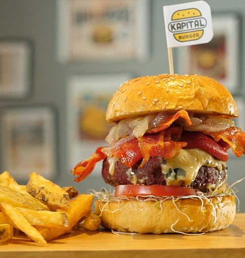 Kapital Burger: hamburguesa con carne artesanal
