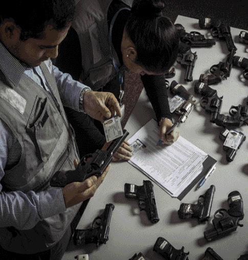 107 mil armas de fuego sin licencia en manos de civiles
