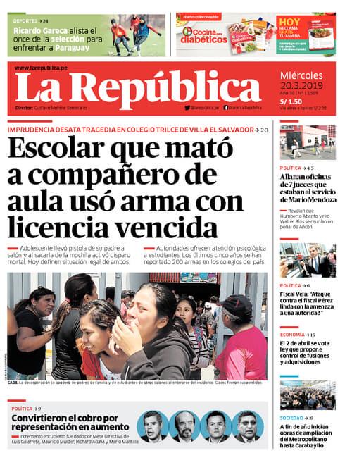 Edición Impresa - Lima - Mié 20 de Marzo de 2019