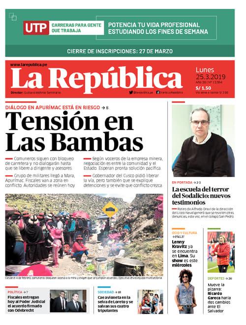 Edición Impresa - Lima - Lun 25 de Marzo de 2019