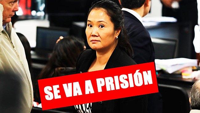 Poder Judicial dicta 36 meses de prisión preventiva para Keiko Fujimori
