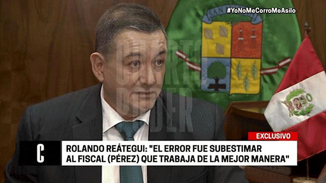 Reátegui: Fuerza Popular subestimó al fiscal José Domingo Pérez
