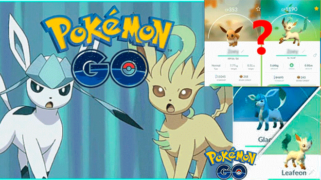 Pokémon Go Glaceon And Leafeon Were Able To Use This Method At The Eevee Raids Be Obtained Video Niantic Inventions Video Games