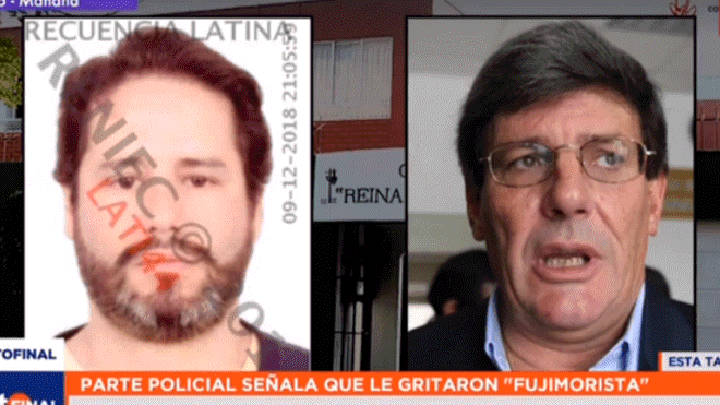 "Referéndum 2018: Rafael Rey agredió a presidente de mesa por llamarlo ""fujimorista"""