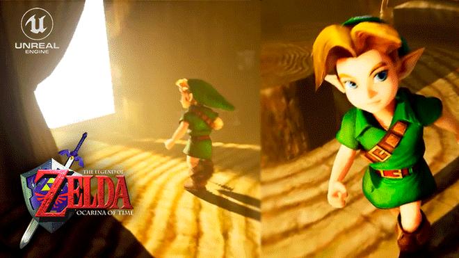 Legend of Zelda: Unreal Engine 4 and 4K Ocarina time is a