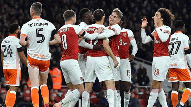 86a5cba143c11 Arsenal vs. Blackpool EN VIVO  chocan en Bloomfield Road por la FA Cup