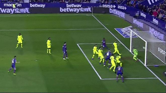 Barcelona vs Levante: Erick Cabaco madruga a los 'azulgranas' con golazo de cabeza