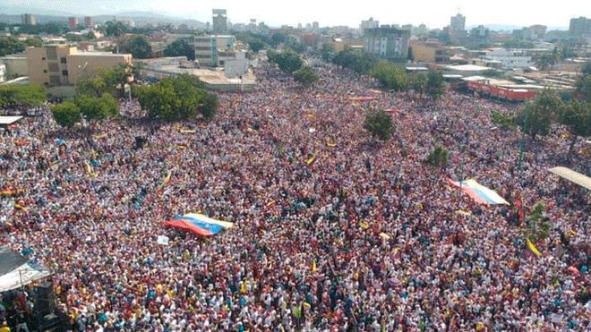 23/01/19. Las marchas en Venezuela fueron tendencia en las redes sociales | Imagen: publicada por larepublica.pe