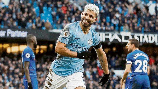 City goleó al ritmo del 'Kun' Agüero