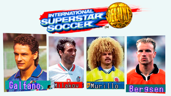 Konami did not show real names of Superstar Soccer International