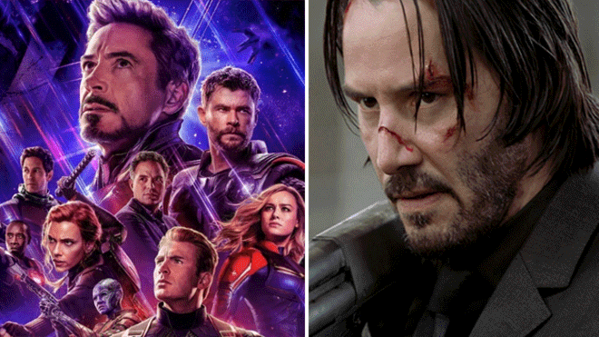Avengers: Endgame: John Wick, Keanu Reeves, is included as an