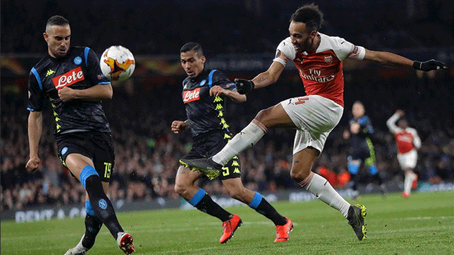 Arsenal vs Napoli por cuartos de final de la Europa League
