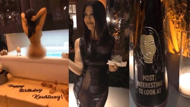 Kourtney Kardashian festejó 40 años con desenfrenada fiesta y polémica torta