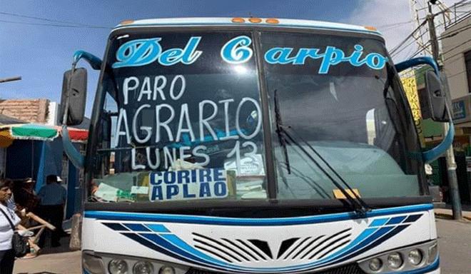 Paro agrario nacional: ¿Cuáles son las demandas de los agricultores peruanos?